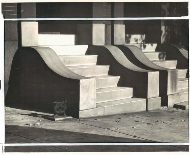 Steps on Saint Paul, undated photo. (Bodine/Baltimore Sun)