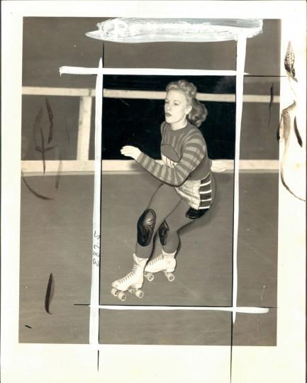 Johnny Kobusch in roller derby, May 19, 1940. (Baltimore Sun)