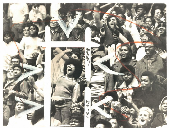 Fans at the roller derby, January 12, 1972. (Baltimore Sun)