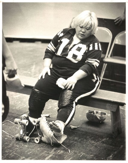 "Baby Rocco, ""the arch villainess of the National Skating Derby,"" in a photo that ran in The Sun January 16, 1972."