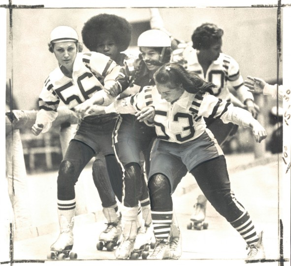 Jam at the roller derby, January 12, 1972. (Baltimore Sun)