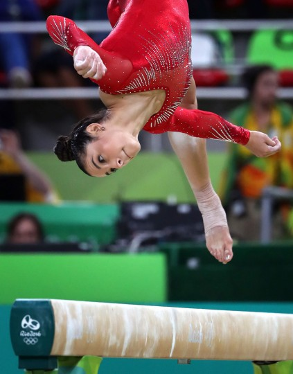 U.S. gymnast Alexandra Raisman competes on the beam during the women's All-Around Individual at the Summer Olympics in Rio de Janeiro, Brazil, on Thursday, Aug. 11, 2016. Raisman won the silver medal in the event. (Brian Peterson/Minneapolis Star Tribune/TNS)