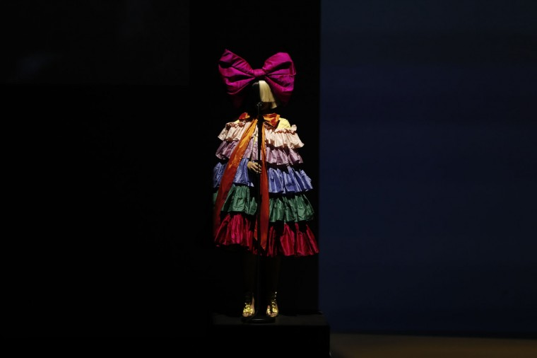 Singer Sia performs on stage during an Apple launch event on September 7, 2016 in San Francisco, California. Apple Inc. unveiled the latest iterations of its smart phone, the iPhone 7 and 7 Plus, the Apple Watch Series 2, as well as AirPods, the tech giant's first wireless headphones. (Photo by Stephen Lam/Getty Images)