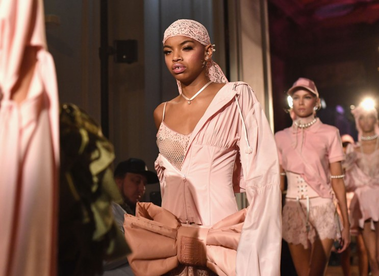 A model walks the runway during FENTY x PUMA by Rihanna at Hotel Salomon de Rothschild on September 28, 2016 in Paris, France. (Photo by Jacopo Raule/Getty Images for Fenty x Puma)