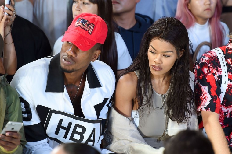 NEW YORK, NY - SEPTEMBER 11: Iman Shumpert and Teyana Taylor attend the Hood By Air fashion show during New York Fashion Week: The Shows at The Arc, Skylight at Moynihan Station on September 11, 2016 in New York City. (Photo by Nicholas Hunt/Getty Images for New York Fashion Week: The Shows)