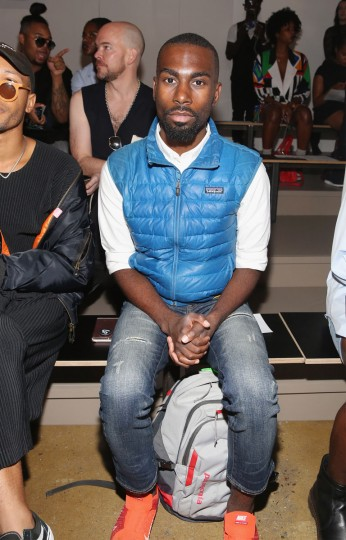 NEW YORK, NY - SEPTEMBER 11: Civil rights activist and educator, Deray McKesson attends Pyer Moss fashion show during MADE Fashion Week September 2016 at Milk Studios on September 11, 2016 in New York City. (Photo by Mireya Acierto/Getty Images)