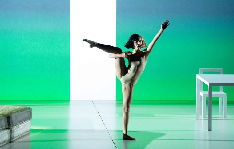 Dancer Maddy Ziegler performs on stage during an Apple event at Bill Graham Civic Auditorium in San Francisco, California on September 07, 2016. (Josh Edelson/AFP/Getty Images)