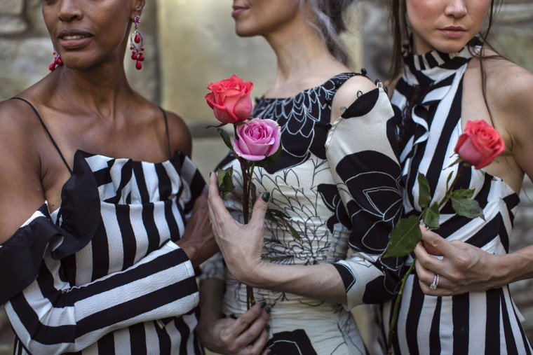 The Tracy Reese Spring 2017 collection is modeled at the New York Marble Cemetery during Fashion Week in New York, Sunday, Sept. 11, 2016. (AP Photo/Andres Kudacki)