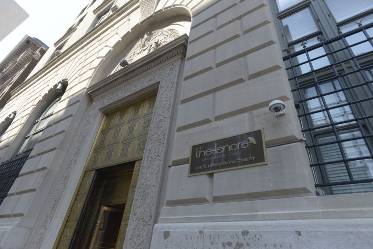 The Lenore apartments opened in 2014 in a building that once housed the Federal Reserve of Richmond's branch in Baltimore, at Lexington and Calvert streets. It contains 102 apartments in what was once mostly office buildings, says property manager Erick Lamb. (Christina Tkacik/Baltimore Sun)