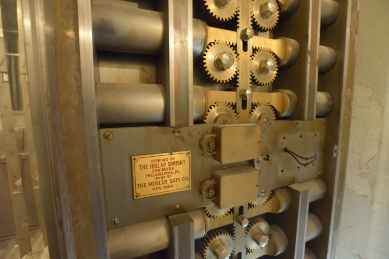 At the time of the bank's opening in 1928, the vault was reported to be one of the safest in the country. (Christina Tkacik/Baltimore Sun)
