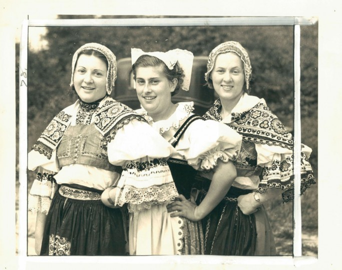 Women in Czechoslovakian folk costumes, photo dated July 20, 1936. (Baltimore Sun Archives)