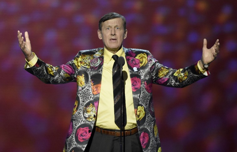 Craig Sager accepts the Jimmy V award for perseverance at the ESPY Awards at Microsoft Theater on Wednesday, July 13, 2016, in Los Angeles. (Photo by Chris Pizzello/Invision/AP)