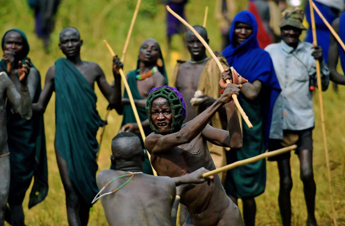 Ethiopias tribes Bena, Hamar,Karo, Mursi, Suri in Picture
