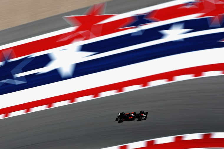 Jenson Button of Great Britain driving the (22) McLaren Honda Formula 1 Team McLaren MP4-31 Honda RA616H Hybrid turbo on track during practice for the United States Formula One Grand Prix at Circuit of The Americas on October 21, 2016 in Austin, United States. (Photo by Mark Thompson/Getty Images)