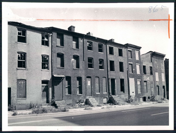 Vacant houses, 1971. (Baltimore Sun)