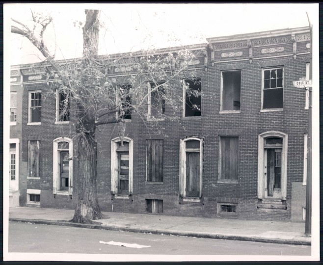 Vacant houses, 1969. (Baltimore Sun)