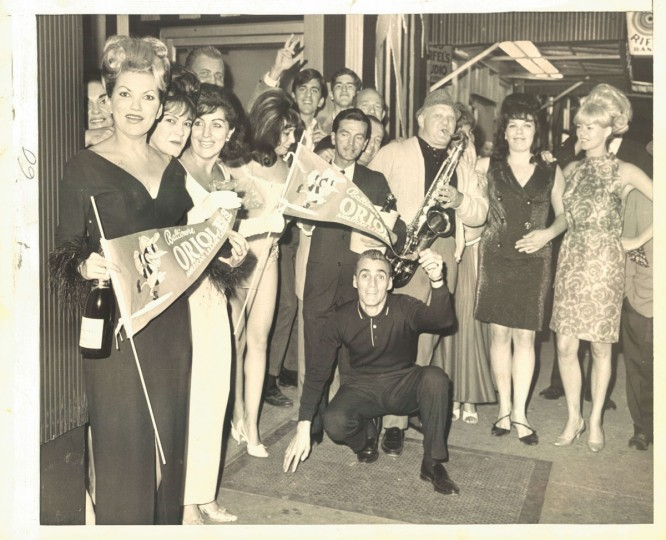 Pennant fever on the Block, September 23, 1966. (Richard Childress/Baltimore Sun)