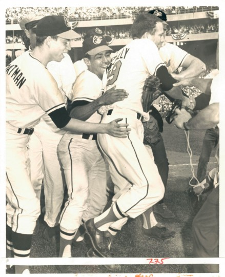 October 10, 1966 - WORLD SERIES VICTORY -- Dave McNally winning pitcher after The Orioles won the World Series. (Ellis J. Malashuk/Baltimore Sun)
