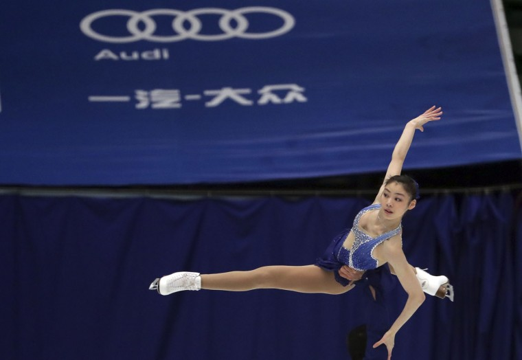Yu Xiaoyu and Zhang Hao of China compete in the Pairs Short Program during the Audi Cup of China ISU Grand Prix of Figure Skating 2016 held in Beijing's Capital Gymnasium on Friday, Nov. 18, 2016. (AP Photo/Ng Han Guan)