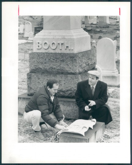 Booth family lot in Green Mount Cemetery, March 15, 1992.