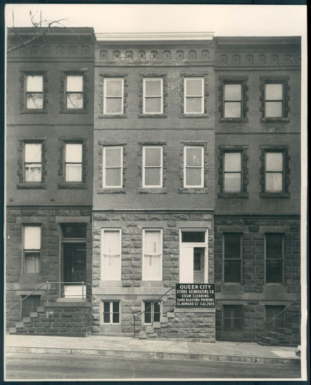 The childhood home of Wallis Simpson, 212 E. Biddle Street in Baltimore. Photo dated 1937. (Baltimore Sun)