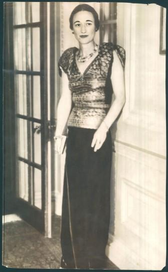 Wallis Simpson in photo dated 1936. (Baltimore Sun)