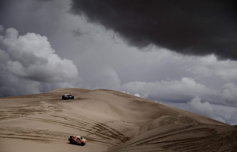 Germany's driver Stephan Schott with his co-driver Paulo Fiuza steers his Mini during the Stage 4 of the Dakar 2017 between San Salvador de Jujuy and Tupiza, Bolivia, on January 5, 2017. (Franck Fife/AFP/Getty Images)