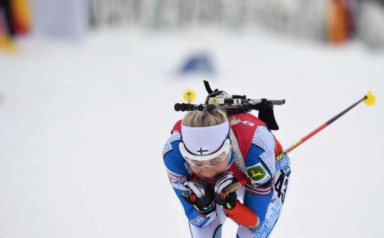 Finnland's Kaisa Makarainen competes during the women 7,5 km sprint competition of the Biathlon World Cup on January 14, 2017, in Ruhpolding, southern Germany. (Christof Stache/AFP/Getty Images)