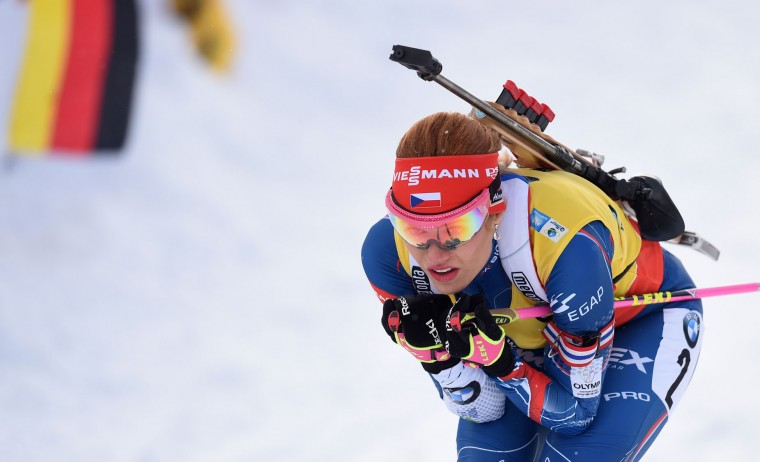 Czech's Gabriela Koukalova competes during the women's 10 km pursuit competition of the Biathlon World Cup on January 15, 2017, in Ruhpolding, southern Germany. (Christof Stache/AFP/Getty Images)