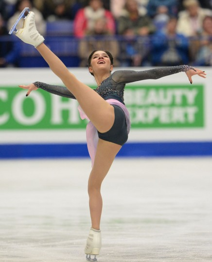 Russia's Evgenia Medvedeva competes during the ladies free skating competition of the European Figure Skating Championship in Ostrava, Czech Republic on January 27, 2017. (Michal Cizek/AFP/Getty Images)