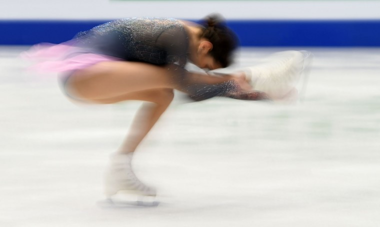 Evgenia Medvedeva of Russia competes during the ladies free skating competition of the European Figure Skating Championship in Ostrava, Czech Republic on January 27, 2017. (Michal Cizek/AFP/Getty Images)
