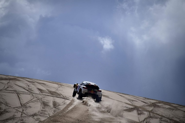 Peugeot's driver Stephane Peterhansel and his co-driver Jean Paul Cottret of France compete during Stage 4 of the 2017 Dakar Rally between San Salvador de Jujuy in Argentina and Tupiza in Bolivia, on January 5, 2017. (Franck Fife/AFP/Getty Images)