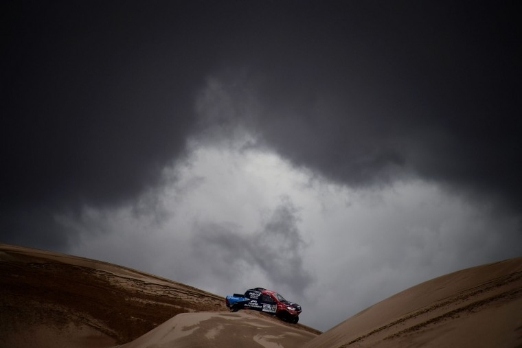 Conrad Rautenbach of Zimbabwe drives during Stage 4 of the 2017 Dakar Rally between San Salvador de Jujuy in Argentina and Tupiza in Bolivia, on January 5, 2017. (Franck Fife/AFP/Getty Images)