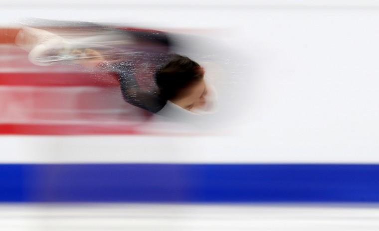 Russia's Evgenia Medvedeva skates her free program at the European Figure Skating Championships in Ostrava, Czech Republic, Friday, Jan. 27, 2017. (AP Photo/Petr David Josek)