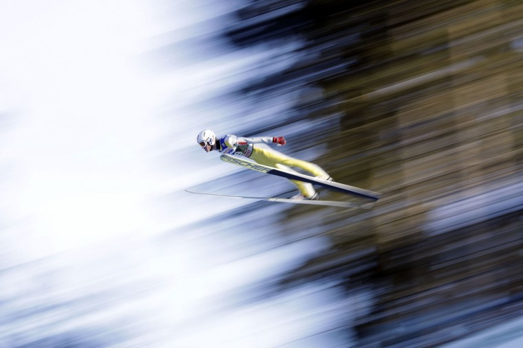 Daniel Andre Tande of Norway soars through the air during his qualification jump at the third stage of the 65th four hills ski jumping tournament in Innsbruck, Austria, Tuesday, Jan. 3, 2017. (AP Photo/Matthias Schrader)