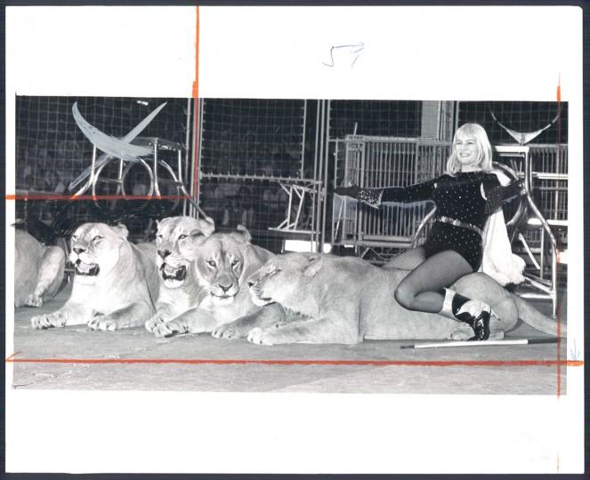 Adele Smieja, Lion Tamer, in 1967. (Baltimore Sun)