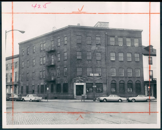 The site of the Anchorage Hotel in photo dated October 12, 1967. The hotel, once a destination for seamen staying in the Baltimore harbor, closed in 1955. (Baltimore Sun)