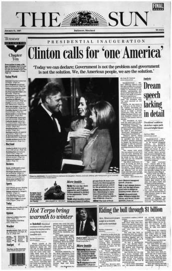 Bill Clinton. Jan. 21, 1997.