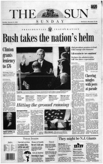 George W. Bush. Jan. 21, 2001.