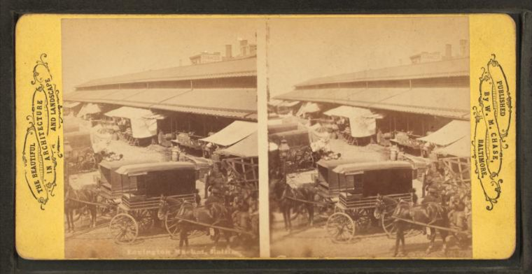 Lexington Market (Image via New York Public Library, Miriam and Ira D. Wallach Division of Arts, Prints and Photographs: Photography Collection)