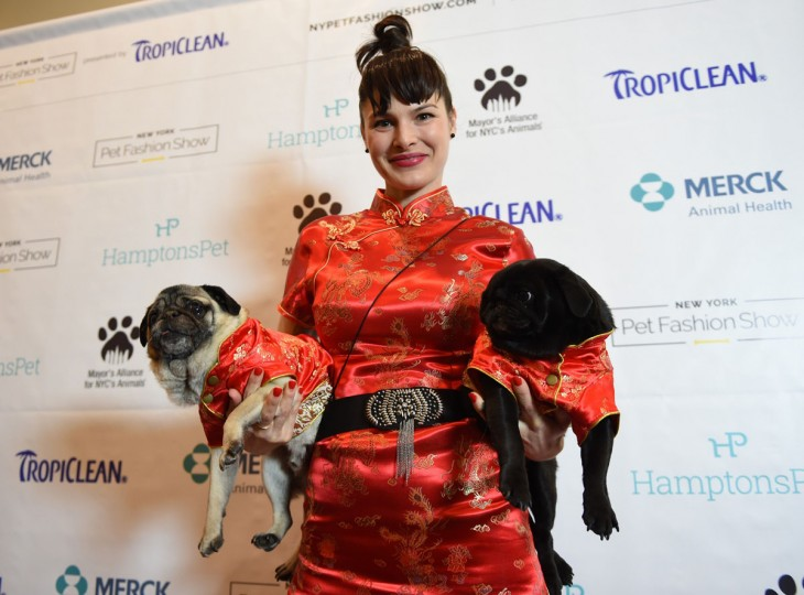 Sierra Schast, representing China and a contestant in the World Fashion Presents segment, during the 14th Annual New York Pet Fashion Show presented by TropiClean at the Hotel Pennsylvania February 9, 2017. (TIMOTHY A. CLARY/AFP/Getty Images)