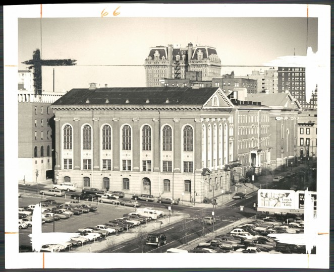 The former Loyola High School and College, set to become the Center Stage Theater, in photo dated January 26, 1975. (Baltimore Sun)