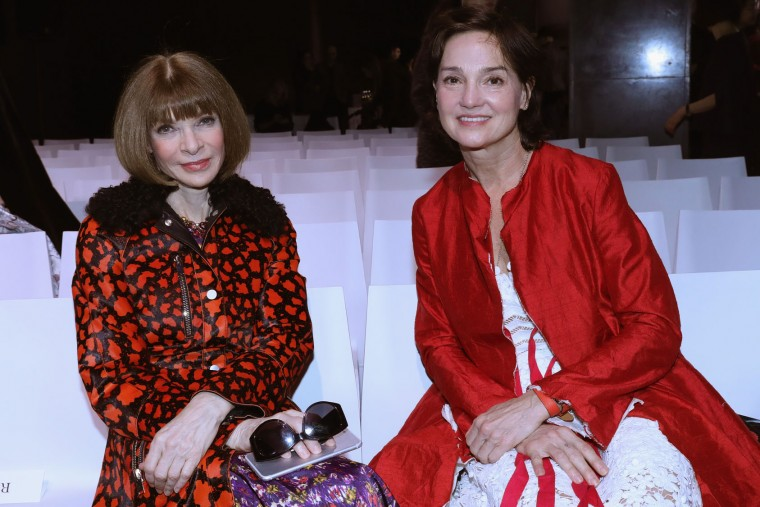 "Anna Wintour and Carrie Rebora Barratt attend the ""Rei Kawakubo Comme Des Garcons Art Of The In-Between"" Presentation as part of the Paris Fashion Week Womenswear Fall/Winter 2017/2018 on March 6, 2017 in Paris, France. (Photo by Vittorio Zunino Celotto/Getty Images)"