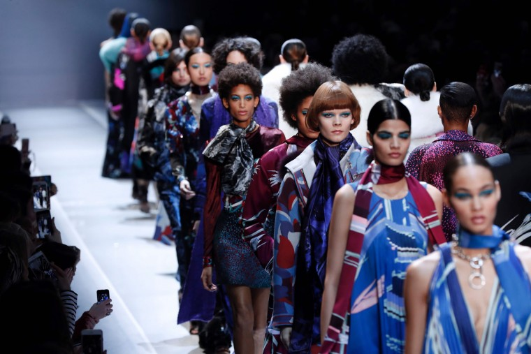 Models present creations by Leonard Paris during the women's Fall-Winter 2017-2018 ready-to-wear collection fashion show, on March 6, 2017 in Paris. (Francois Guillot/AFP/Getty Images)