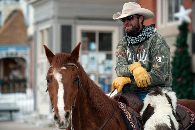 Rider TJ Simmons and his horse Turbo wait for their turn to compete in the 68th annual Leadville Ski Joring weekend competition on March 5, 2017 in Leadville, Colorado. Skijoring, which has its origins as a competitive sport in Scandinavia, has been adapted over the years to include a team made up of a rider and skier who must navigate jumps, slalom gates, and the spearing of rings for points. Leadville, with an elevation of 10,152 feet (3,094 m), the highest incorporated city in North America, has been hosting skijoring competitions since 1949. (Jason Connolly/AFP/Getty Images)