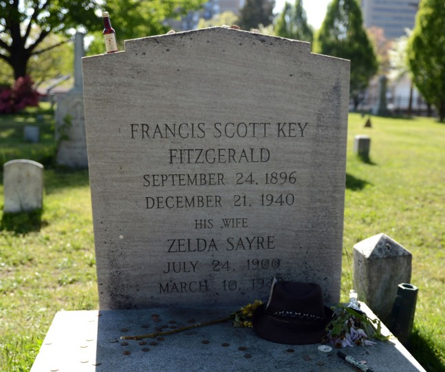 American author F. Scott Fitzgerald and his wife, Zelda Sayre rest at the St. Mary's cemetery in Rockville, Maryland, on Sunday, May 5, 2013. (Chuck Myers/MCT)