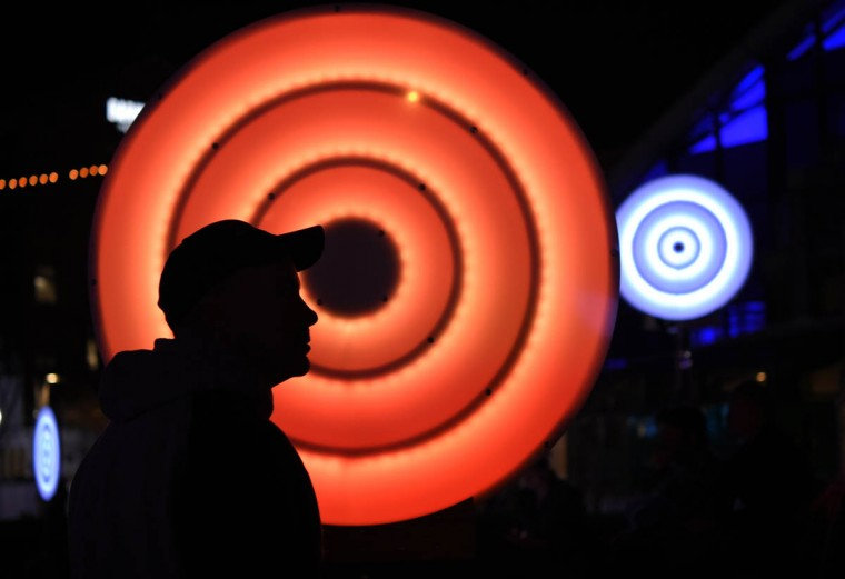 sono:lumo is an interactive installation that converts sound waves into rings of light. Light City Baltimore hosts a festival of lights, music and innovation March 31-April 8 2017. (Lloyd Fox, Baltimore Sun)