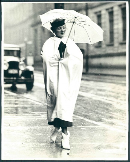 Woman with umbrella in Baltimore, May 5, 1936. (Baltimore Sun)