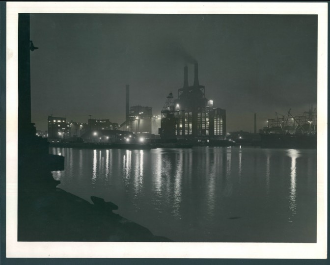 Gould Street Gas and Electric Power Plant in photo dated July 7, 1957. In 1970, Baltimore Gas and Electric, which operated the plant, ranked as the top air polluter in the area. (Bodine/Baltimore Sun)