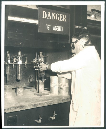 Chemical weapons manufacturing at Edgewood Arsenal in photo dated 1957. (Baltimore Sun)